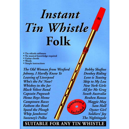 instant tin whistle folk cd book